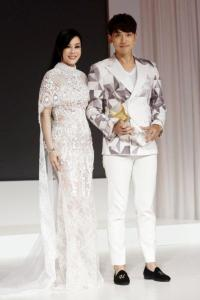 Emily Hwang (Vice-president of Asia Couture Federation) & International star Rain